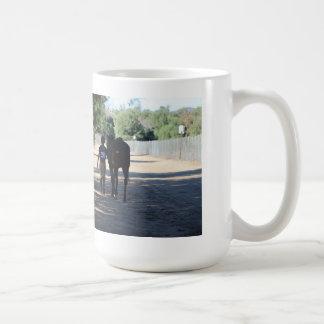 horse and rider mugs