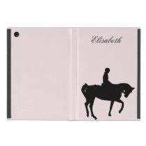 Horse and rider silhouette iPad mini case