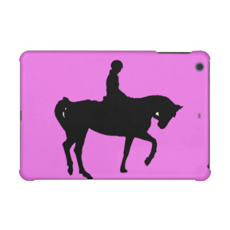 Horse and rider silhouette iPad mini cases