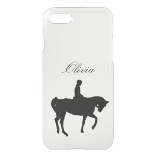 Horse and rider silhouette iPhone 7 case