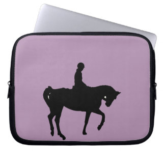 Horse and rider silhouette laptop sleeves