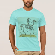 Horse and rider skeleton. T-Shirt