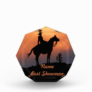 Horse and Rider Sunset Silhouette Award