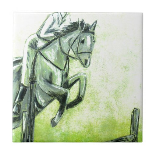 Horse and Rider Tile