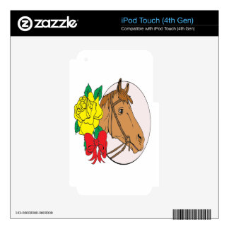 Horse and Rose iPod Touch 4G Decal