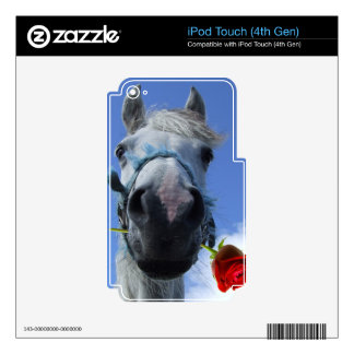 Horse and Rose love theme Decal For iPod Touch 4G