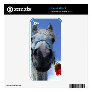 Horse and Rose love theme Decals For iPhone 4S