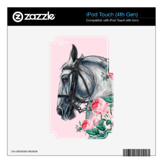 Horse And Roses Decals For iPod Touch 4G