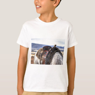 Horse and Saddle Mountain Landscape T-Shirt