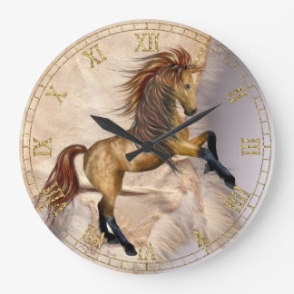 Horse and Sheepskin  Wall Clock