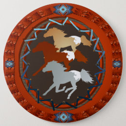 Horse and Shield-Button Button