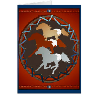 Horse and Shield Card