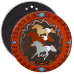 Horse and Shield-Magnet Button