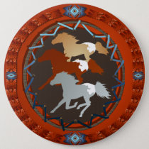 Horse and Shield-Magnet Pinback Button