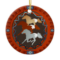 Horse and Shield-Ornaments Ceramic Ornament