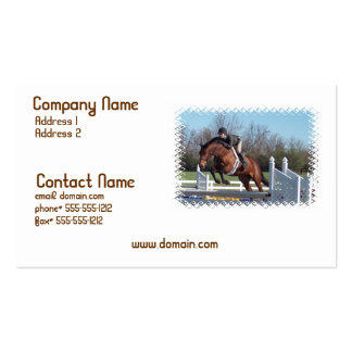 Horse and Show Jumping Business Card