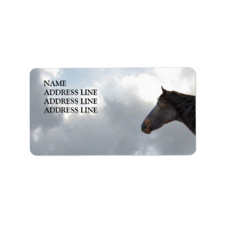 Horse and Sky 3 - Western Return Address Label