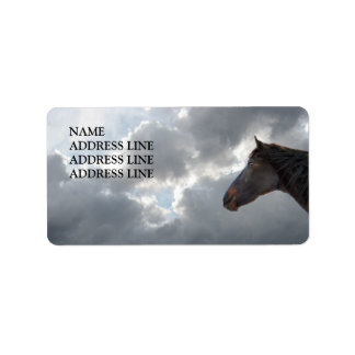 Horse and Sky 4 - Western Return Address Label