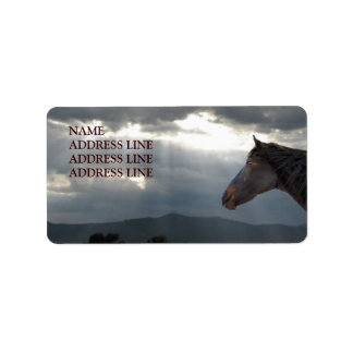 Horse and Sky 5 - Western Return Address Label