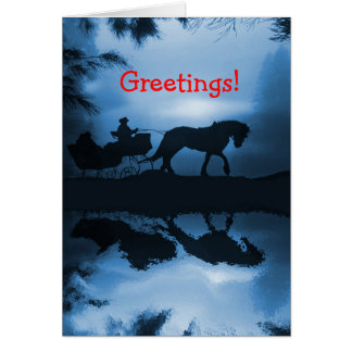 Horse and Sleigh Holiday Card