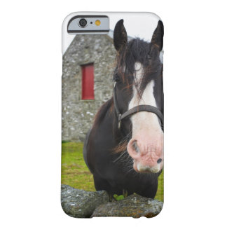 Horse and stone barn in rural England Barely There iPhone 6 Case