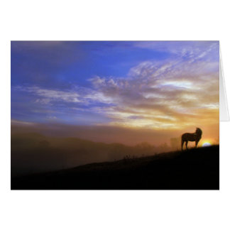 Horse and Sunset Sympathy Card