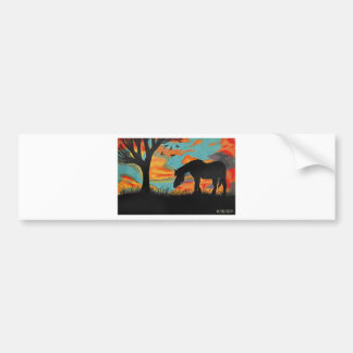 Horse and Tree Bumper Sticker