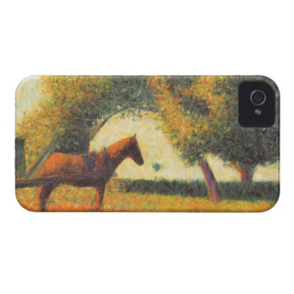 Horse and wagon by Georges Seurat Case-Mate iPhone 4 Cases