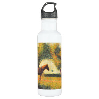 Horse and wagon by Georges Seurat 24oz Water Bottle