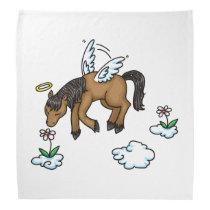 Horse Angel and flowers Bandana