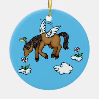 Horse Angel in memory ornament