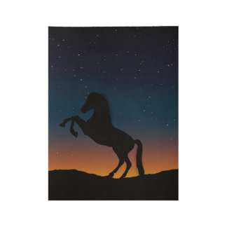Horse Animal Nature Wood Poster
