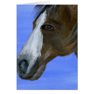 Horse art acrylic painting card