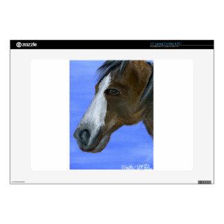 "Horse art acrylic painting 15"" laptop skin"