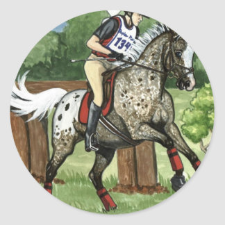 Horse Art APPALOOSA Eventing Classic Round Sticker