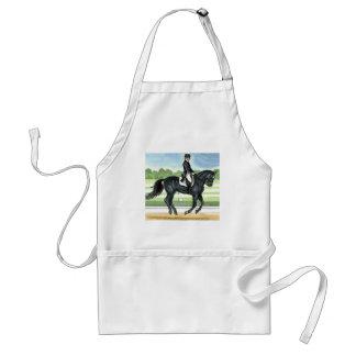 Horse Art BLACK dressage Canter Adult Apron