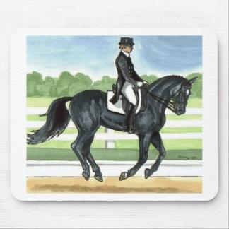 Horse Art BLACK dressage Canter Mouse Pad