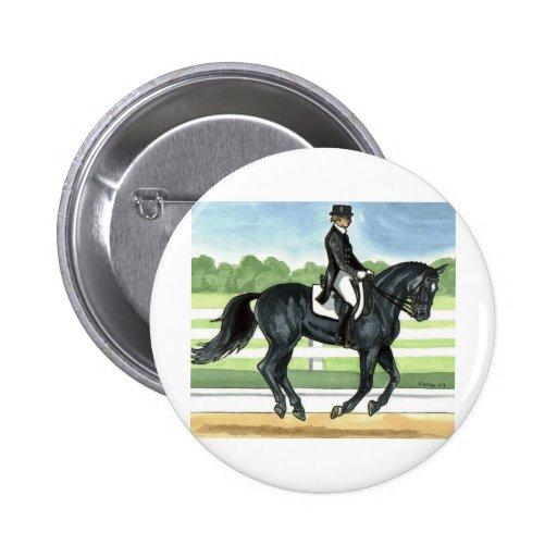 Horse Art BLACK dressage Canter Pins