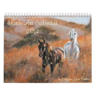Horse art calenda 2014 wall calendar