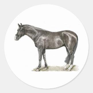 Horse Art Classic Round Sticker