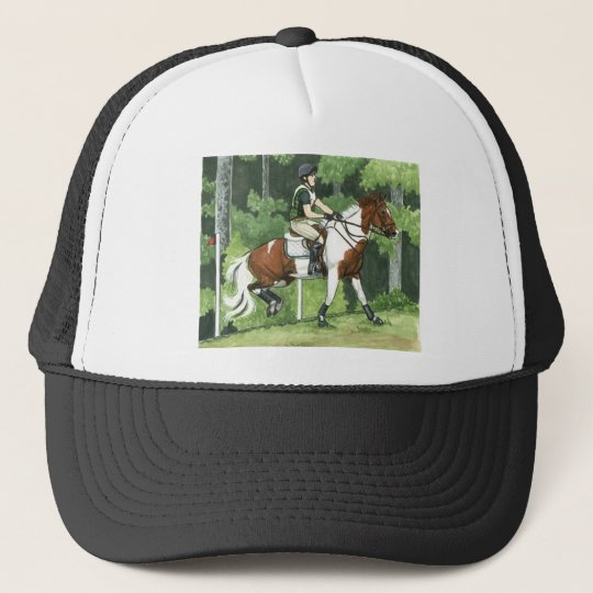 HORSE ART Cross-Country Up the Steps Eventing Trucker Hat