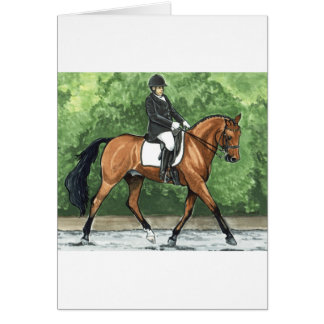 Horse Art Dressage Horse Bay Trotting Greeting Card