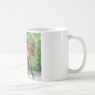Horse Art Dressage Horse Bay Trotting Coffee Mug