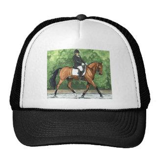 Horse Art Dressage Horse Bay Trotting Trucker Hat