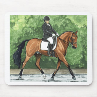 Horse Art Dressage Horse Bay Trotting Mouse Pad
