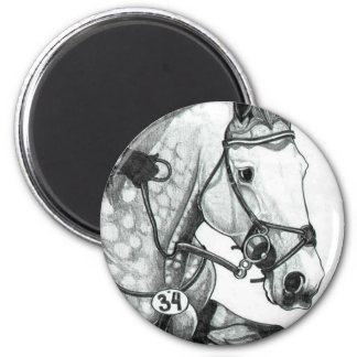 Horse Art EXTREME EVENTING 2 Inch Round Magnet