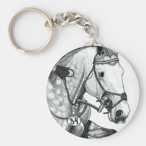 Horse Art EXTREME EVENTING Keychain