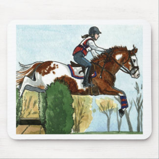 Horse Art Flying Paint Horse XC Mouse Pad