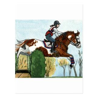 Horse Art Flying Paint Horse XC Postcard