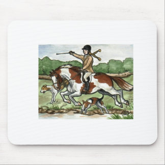 Horse Art Foxhunt girl on Paint Pony Mouse Pad